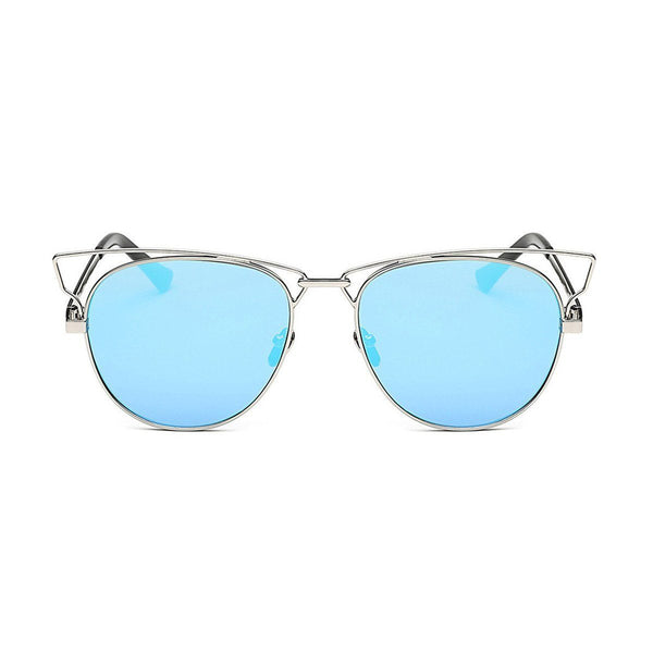 Jaime in Silver + Blue Sunglasses Cat Eye - GETSUNNIES CANADA