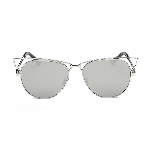 Jaime in Silver Sunglasses Cat Eye - GETSUNNIES CANADA