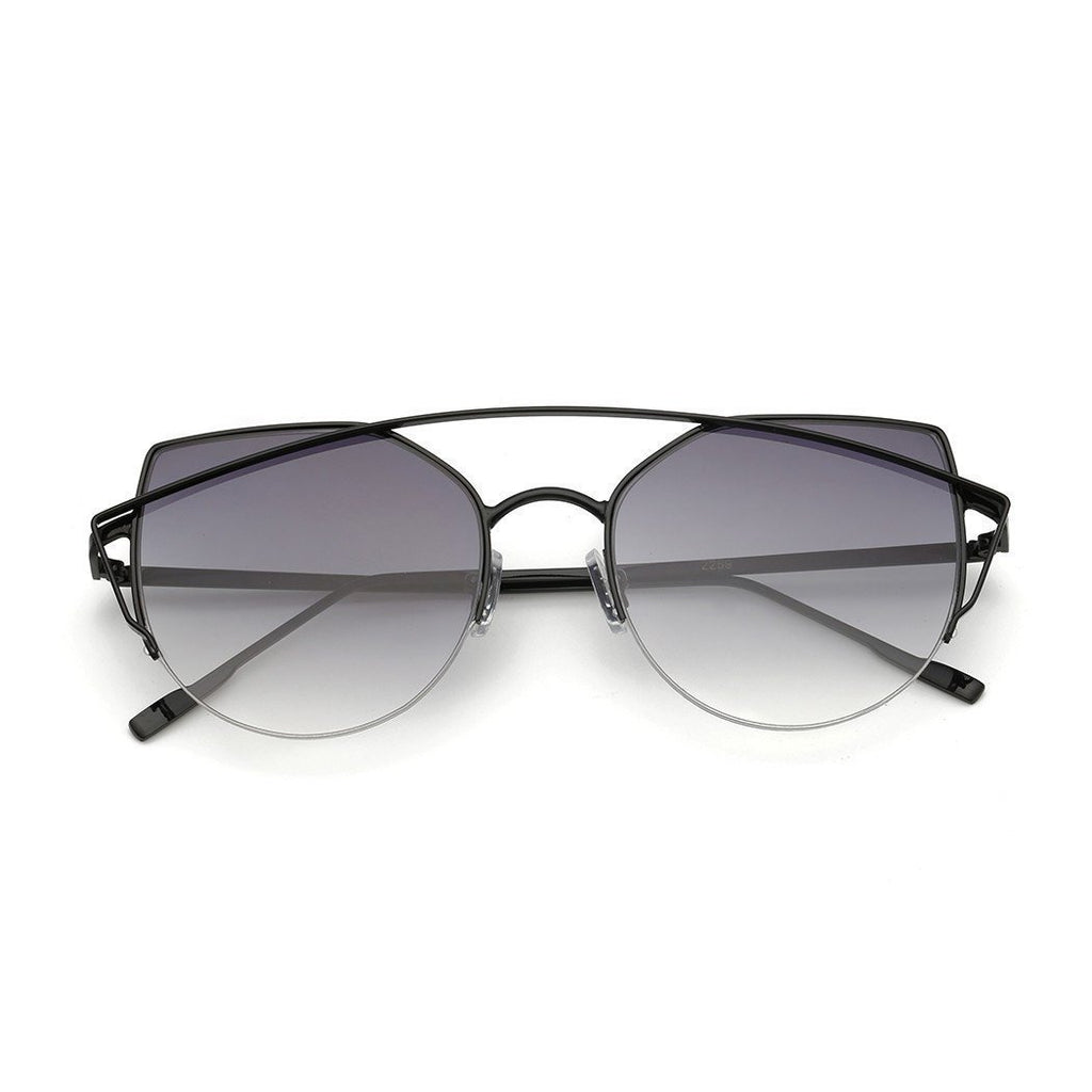 Janet in Black + Grey Sunglasses Cat Eye - GETSUNNIES CANADA
