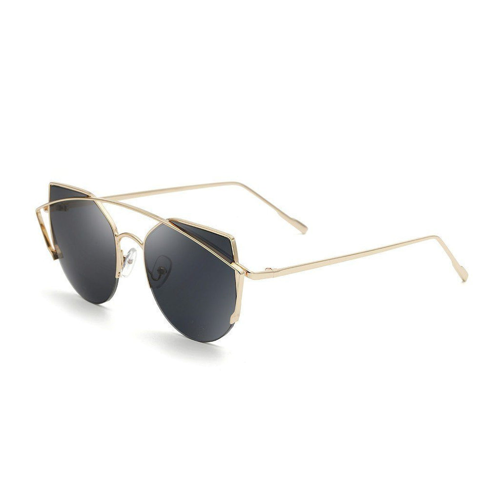 Janet in Gold + Black Sunglasses Cat Eye - GETSUNNIES CANADA