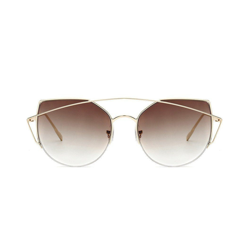 Janet in Gold + Brown Sunglasses Cat Eye - GETSUNNIES CANADA