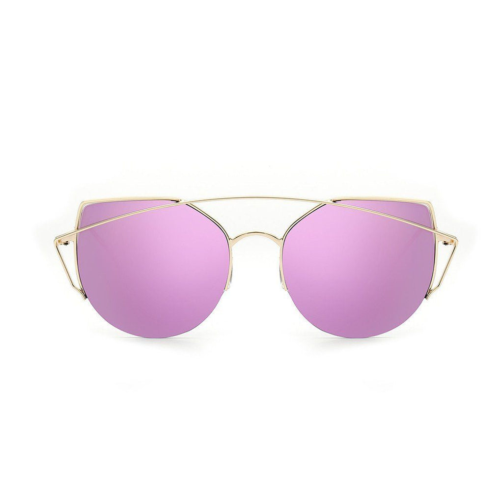 Janet in Gold + Purple Sunglasses Cat Eye - GETSUNNIES CANADA