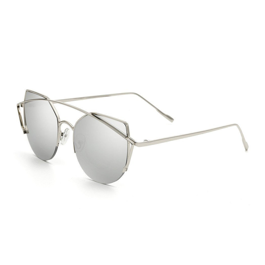 Janet in Silver Sunglasses Cat Eye - GETSUNNIES CANADA