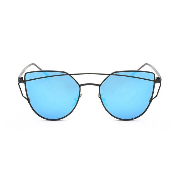 Kyla in Black + Blue Sunglasses Cat Eye - GETSUNNIES CANADA