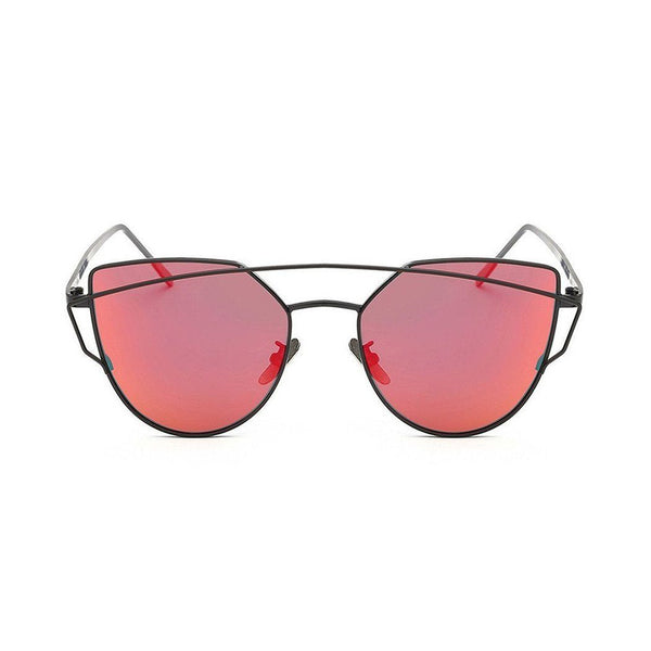 Kyla in Black + Red Orange Sunglasses Cat Eye - GETSUNNIES CANADA