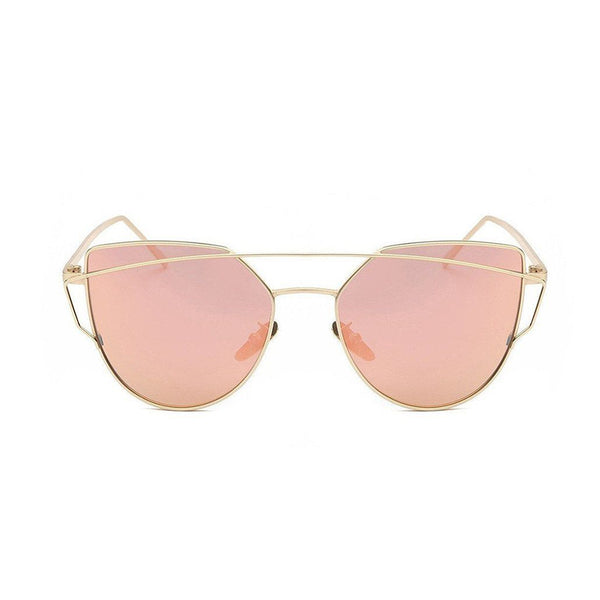 Kyla in Gold + Rose Sunglasses Cat Eye - GETSUNNIES CANADA