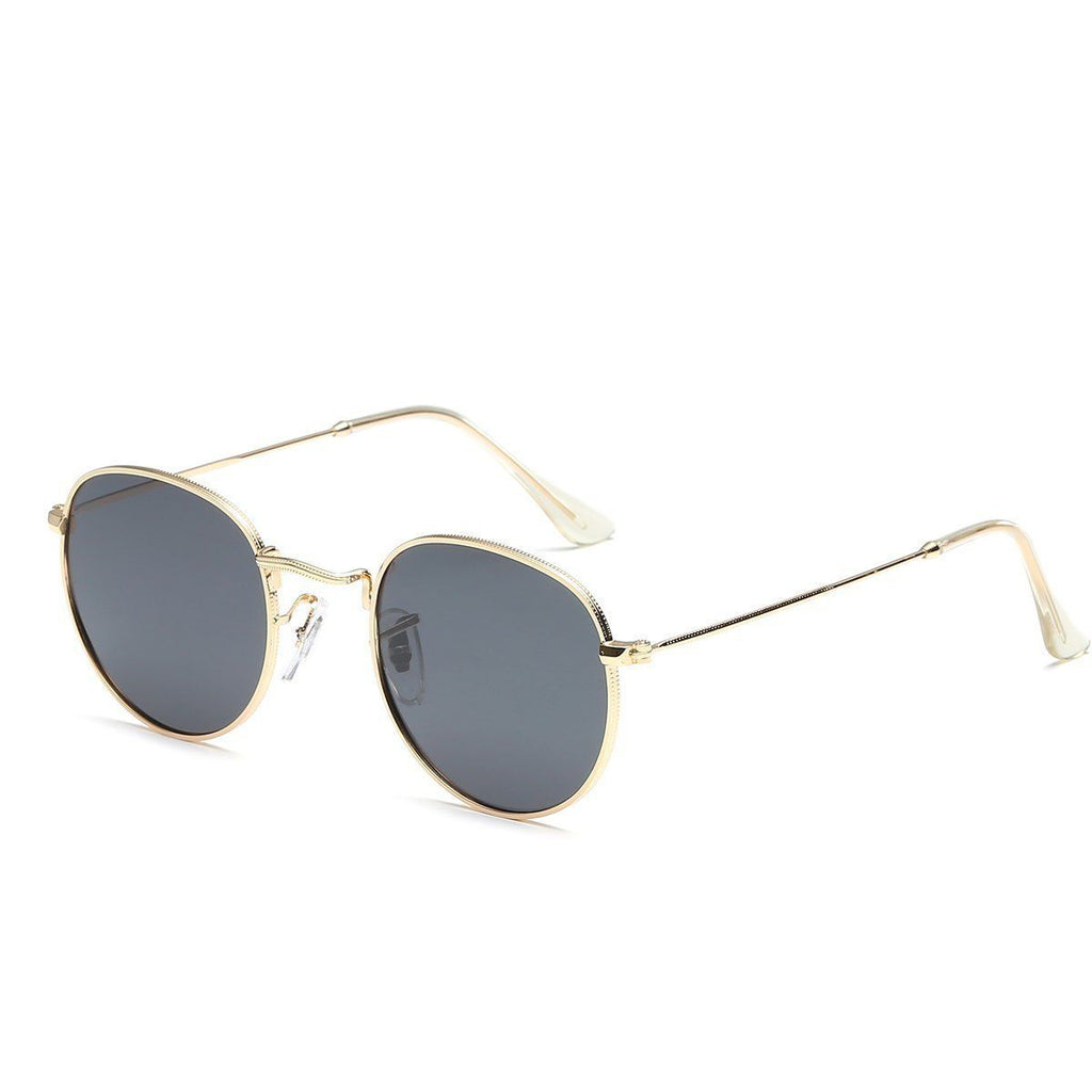 Jade in Gold + Black Sunglasses Round Frame - GETSUNNIES CANADA
