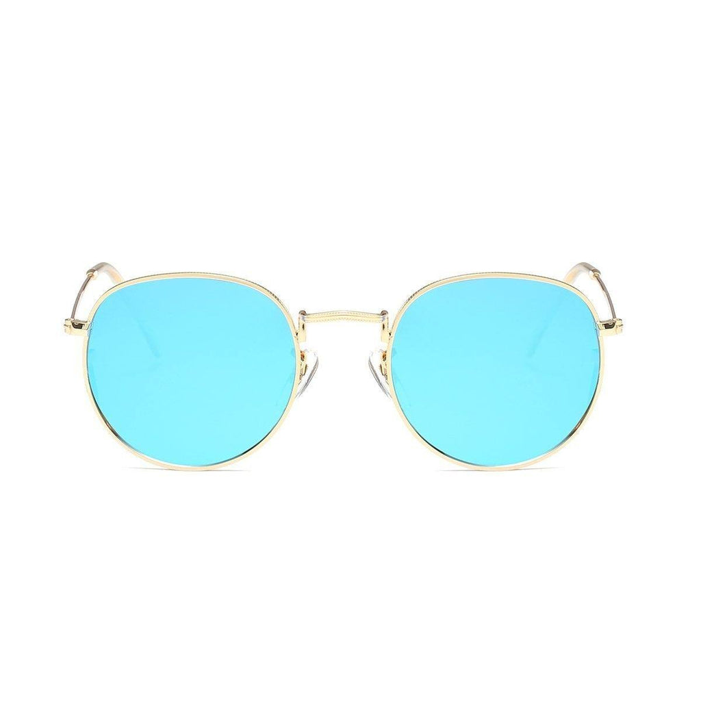 Jade in Gold + Blue Sunglasses Round Frame - GETSUNNIES CANADA