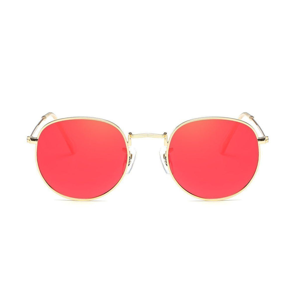 Jade in Gold + Red Sunglasses Round Frame - GETSUNNIES CANADA