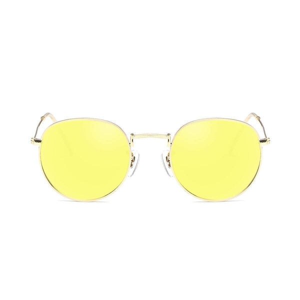 Jade in Gold + Yellow Sunglasses Round Frame - GETSUNNIES CANADA