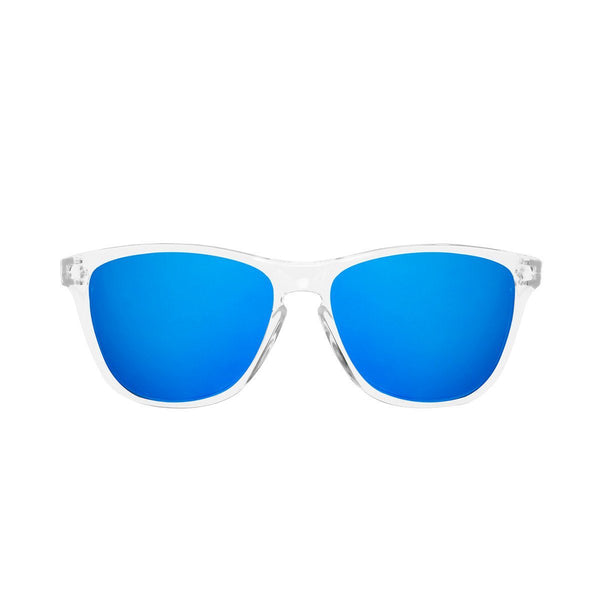 Ryan in Clear & Dark Blue Sunglasses Wayfarers - GETSUNNIES CANADA