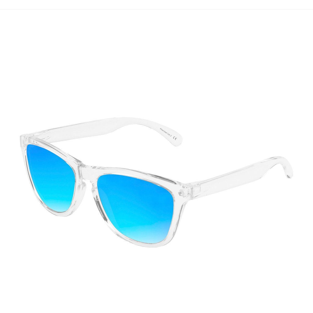 Ryan in Clear + Light Blue Sunglasses Wayfarers - GETSUNNIES CANADA