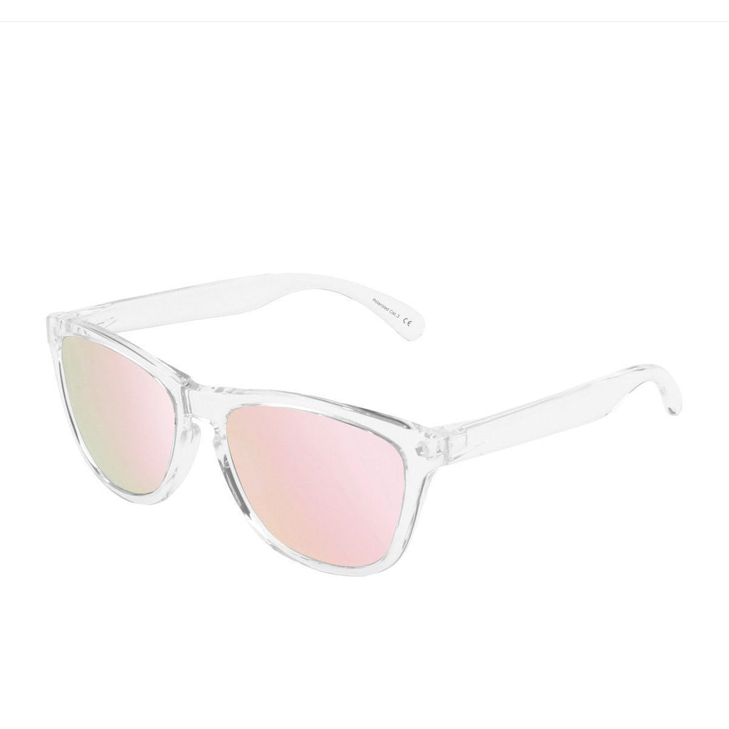 Ryan in Clear + Pink Sunglasses Wayfarers - GETSUNNIES CANADA