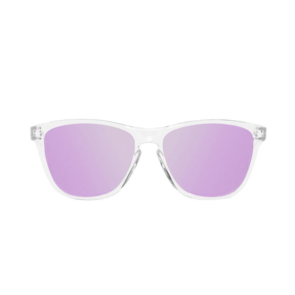 Ryan in Clear + Purple Sunglasses Wayfarers - GETSUNNIES CANADA