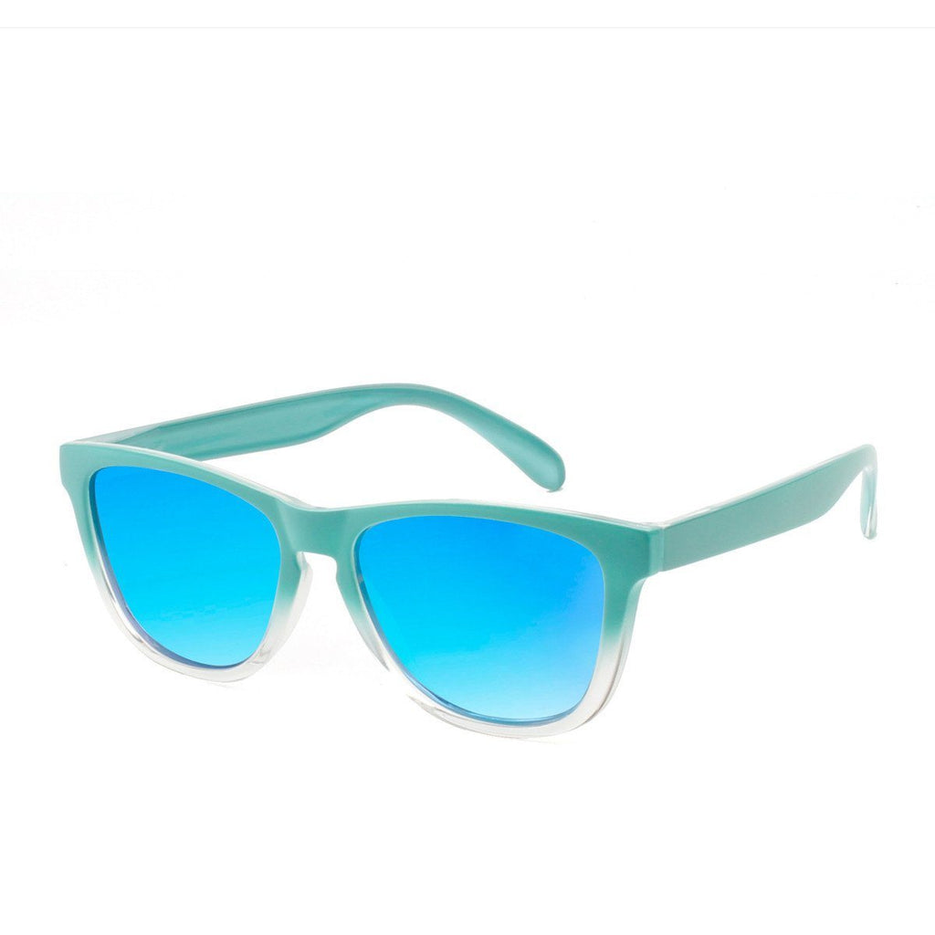 Ryan in Green + Clear Sunglasses Wayfarers - GETSUNNIES CANADA