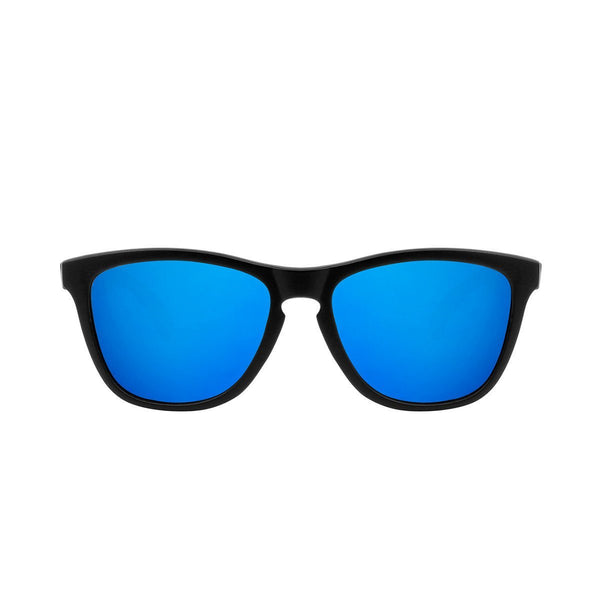 Ryan in Matte Black + Dark Blue Sunglasses Wayfarers - GETSUNNIES CANADA