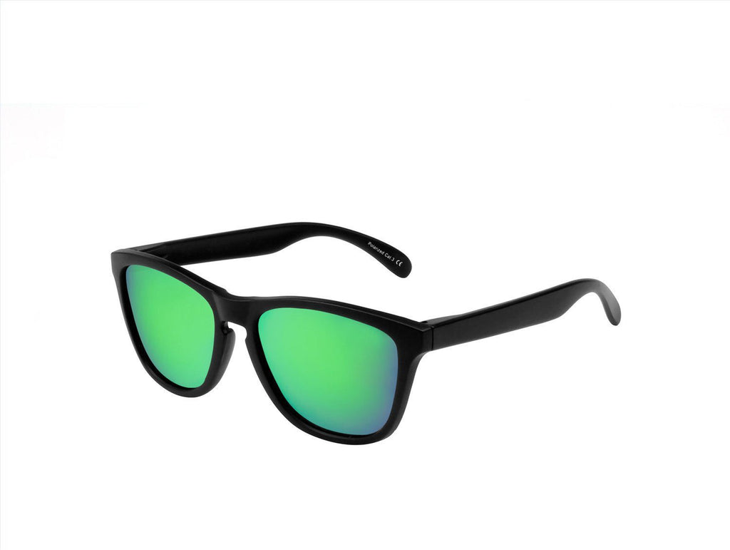 Ryan in Matte Black + Green Sunglasses Wayfarers - GETSUNNIES CANADA