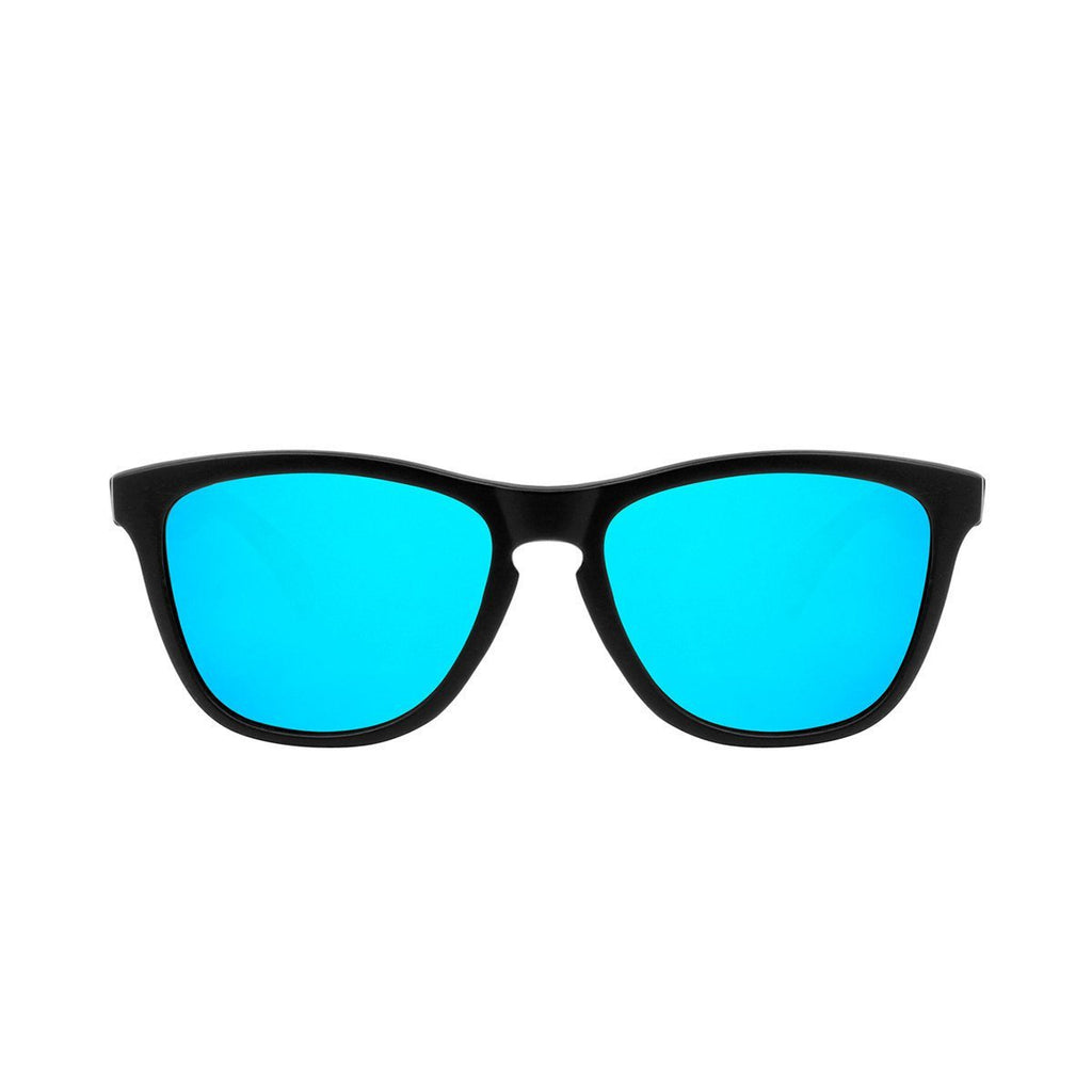 Ryan in Matte Black + Light Blue Sunglasses Wayfarers - GETSUNNIES CANADA