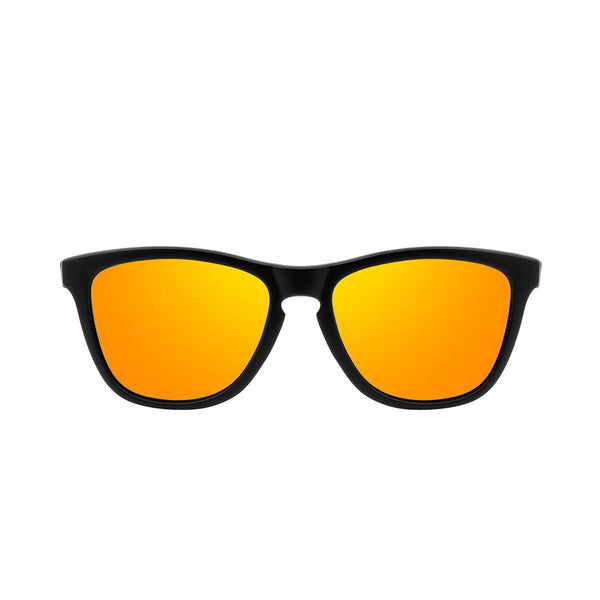 Ryan in Matte Black + Orange Sunglasses Wayfarers - GETSUNNIES CANADA