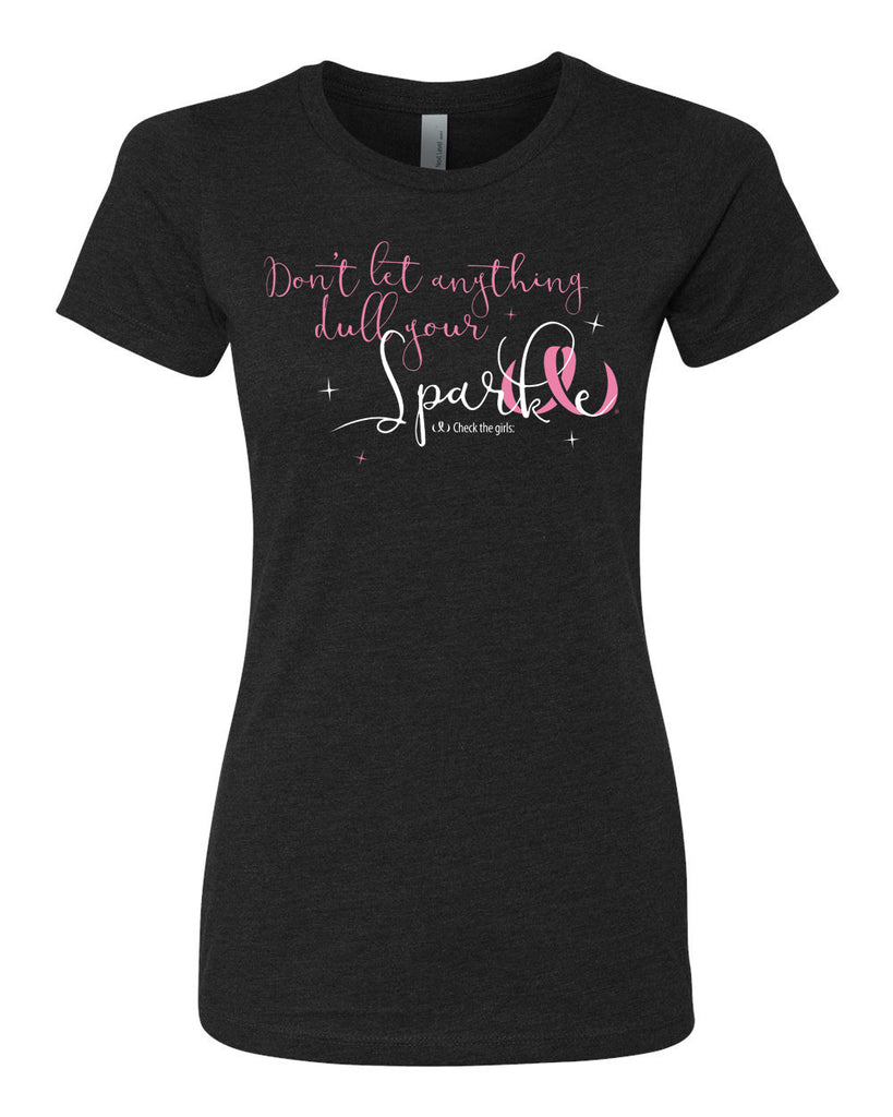 "Women's CTG ""Don't Let Anything Dull Your Sparkle"" GLITTER t-shirt - Crewneck"