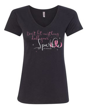 "Women's CTG ""Don't Let Anything Dull Your Sparkle"" GLITTER t-shirt - V-Neck"