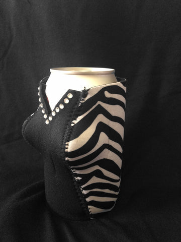 Check the girls.® RHINESTONE Curvy Can Koozie
