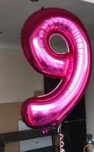 "Large 34"" Number Balloons £8.50"