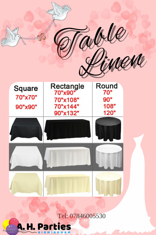 Table Linen - From £3