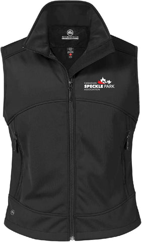 Speckle - Ladies Bonded Vest - Black