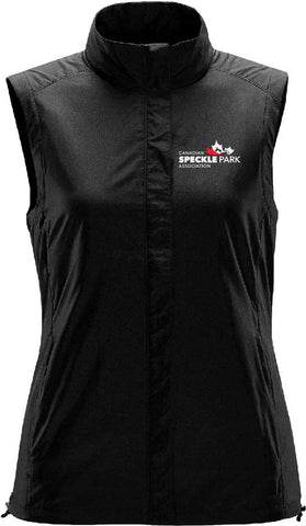Speckle - Ladies Micro Light Windvest - Black