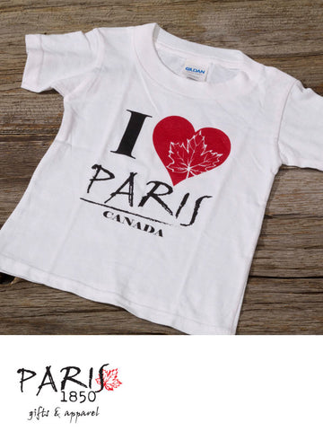 "Paris 1850 - Toddler T-Shirt ""I Heart Paris"""