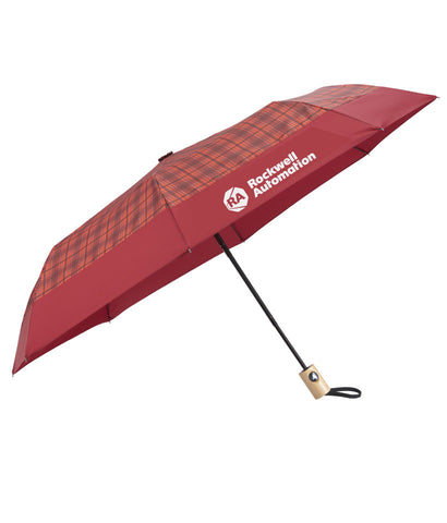 "Rockwell - 42"" Plaid Folding Umbrella, EcoSmart, case of 36"