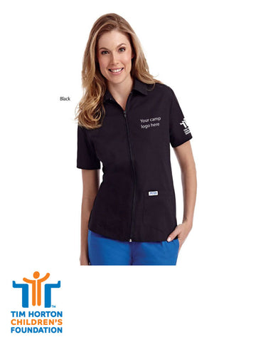 Tims Uniform US - Ladies Zipper Top