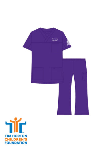 Tims Uniform US - V-Neck 3 Pocket Scrub Set