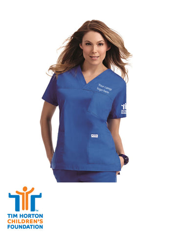 Tims Uniform US - 3 Pocket V-Neck Scrub Top