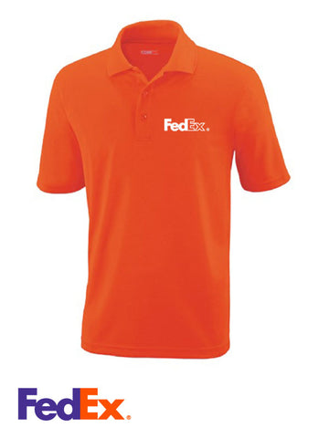 Men's Orange Performance Polo