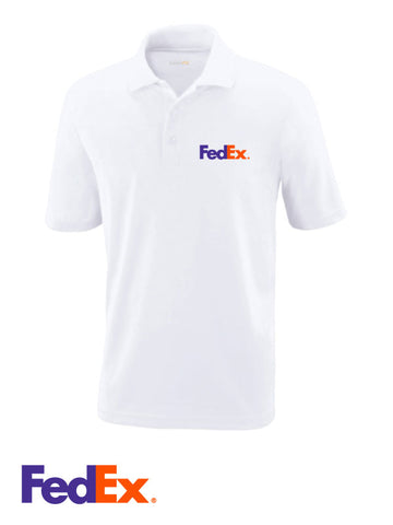Men's White Performance Polo