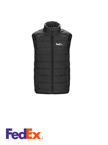 Ladies Black Puffy Vest