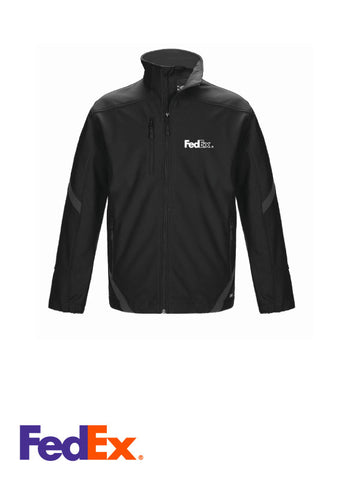 Men's Black/Gunmetal 3-layer Bonded Softshell Jacket