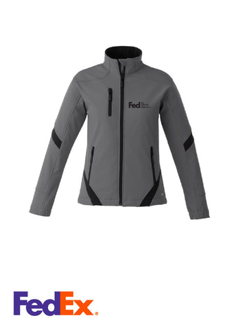 Ladies Gunmetal/Black 3-layer Bonded Softshell Jacket