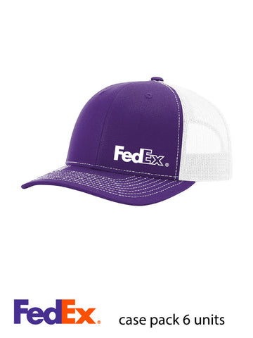 Richardson Purple/White Trucker Snapback Mesh Hat