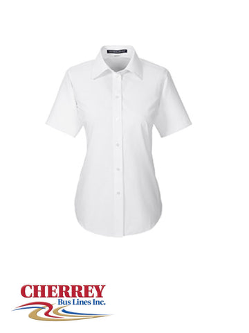 Cherrey Bus Lines - Ladies Short Sleeve Dress Shirt