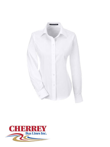 Cherrey Bus Lines - Ladies Long Sleeve Dress Shirt