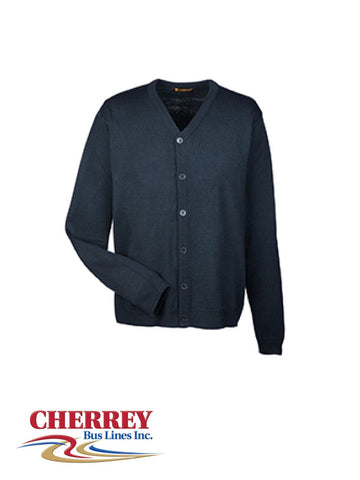 Cherrey Bus Lines - Men's Cardigan Sweater