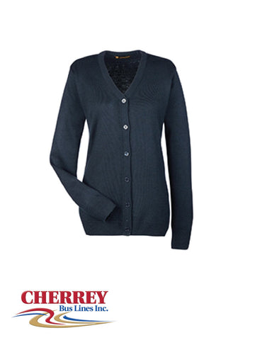 Cherrey Bus Lines - Ladies Cardigan Sweater