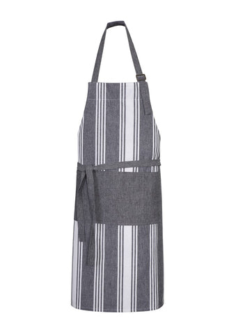 THE BAUER KITCHEN - Striped Bib Apron