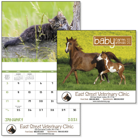 Pet Baby Farm Animals Calendar
