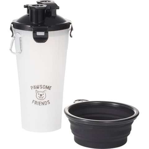 Pet Dual Sided Food and Water Travel Container