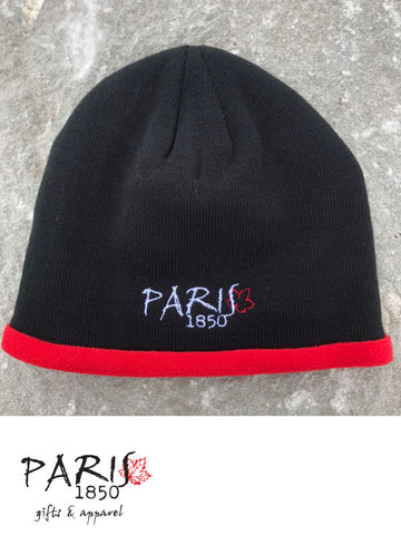 Paris 1850 - Red Stripe Knit Toque