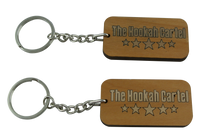 The Hookah Cartel Wooden Key Chain